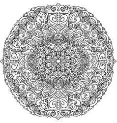 abstract mandala ornament for adult coloring books vector image vector image