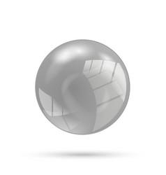 Gray sphere vector