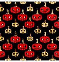 Halloween zigzag pattern with pumpkins vector image