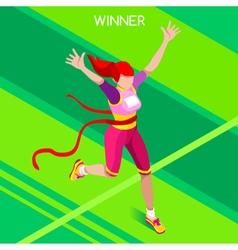 Running winner 2016 summer games isometric 3d vector