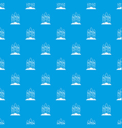 serfing board pattern seamless blue vector image vector image