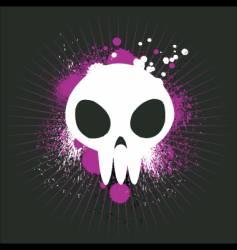 cute graffiti skull vector image vector image