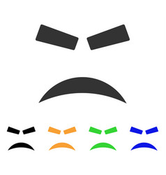 furious smile icon vector image