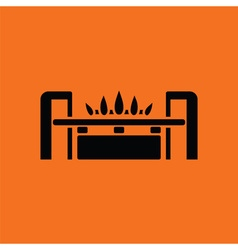 Gas burner icon vector image