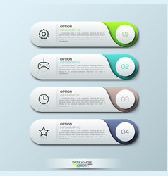infographic design template with 4 separate vector image vector image
