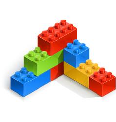 Brick wall meccano toy vector