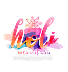 Colorful background for happy holi festival vector