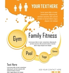 family fitness infographic design vector image