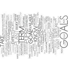 Goal tips text background word cloud concept vector
