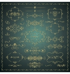 Hand Drawn Decorative Golden Design vector image vector image