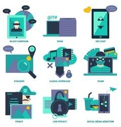 Internet bad effect flat design icon vector image