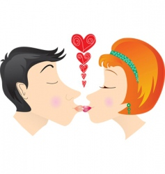 kiss lovers vector image