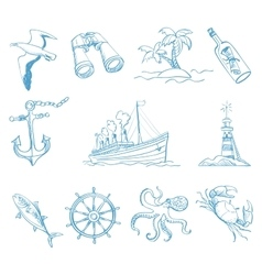 Seamless background on boating theme for your vector image