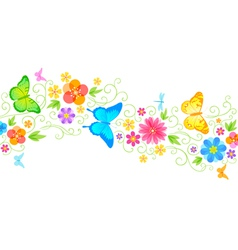Summer floral wave vector image vector image