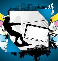 wakeboarder summer frame vector image vector image