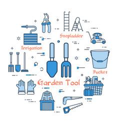 blue gardening - garden tool vector image