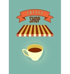Coffee Shop typographical vintage style poster vector image vector image