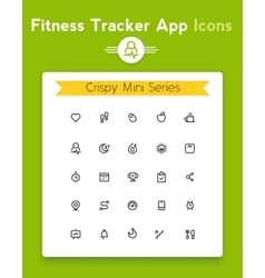 line fitness and sport tracker app icon set vector image vector image