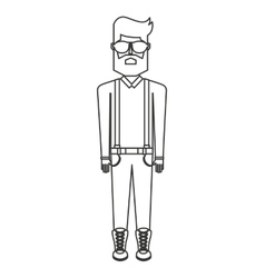 man person hipster style isolated icon vector image vector image