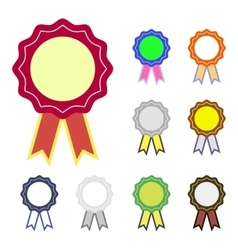 with badge set vector image