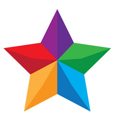 abstract colorful star or symbol isolated on vector image