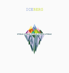 Abstract triangle iceberg logo design vector