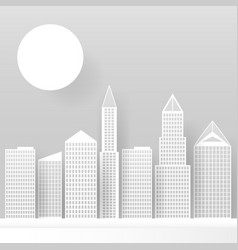abstract white skyscrapers made paper modern vector image