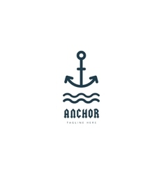 Anchor logo icon Sea vintage or sailor vector