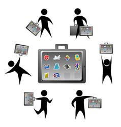 Application briefcase vector