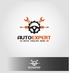 auto expert logo template vector image