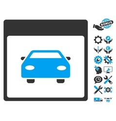 Automobile car calendar page icon with vector