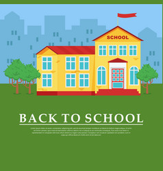 Back to school poster vector