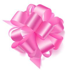 Big bow made ribbon vector