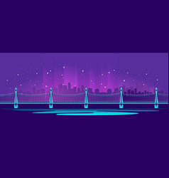big neon bridge vector image
