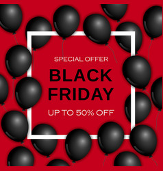 Black friday concept background realistic style vector