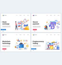 blockchain cryptocurrency stock exchange vector image