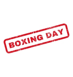 Boxing Day Text Rubber Stamp vector image