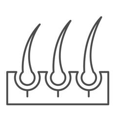 Bristle hair thin line icon shaving vector