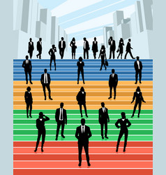 Business people on the stairs vector