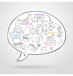 Business strategy and planning in a speech bubble vector image