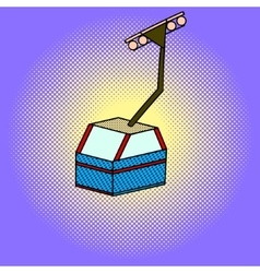 Cableway pop art vector