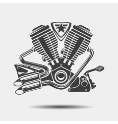 Car engine or motorbike motor black icon vector image