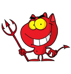 Cartoon Character Halloween Devil vector