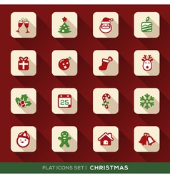 Christmas Flat Icons Set vector