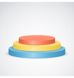 Color podium vector