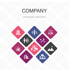Company infographic 10 option color design office vector