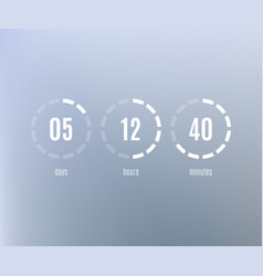 countdown web site flat template digital timer vector image