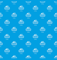 Curling pattern seamless blue vector