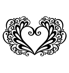 deco floral heart vector image