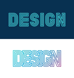design lettering in linear style vector image